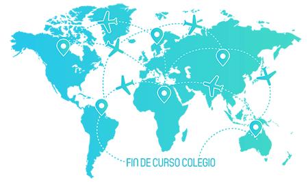 mapa todos destinos fin de curso